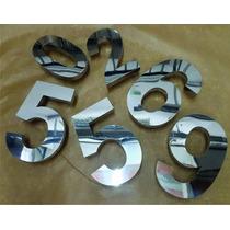 Numeros Em Aço Inox Polido Ou Escovado 20cm