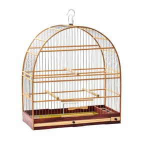 Gaiola Madeira Nº 04 Malha Fina - Pássaros Pequeno Porte