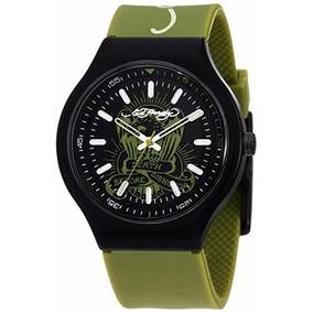 Reloj Ed Hardy Original Neo Green By Christian Audiger Ne-gr