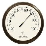 8 Dial Thermometer La Crosse Fahrenheit Weatherproof
