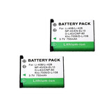 2-pack Np-45 Batería Para Fujifilm Np-45a, 45b-np, Np-45s Y