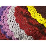 Kit 12 Sousplat De Croche - Diversas Cores - Promoção