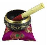 Cuenco Tibetano 16.5cm Con Mazo Baqueta Y Almohadon 950grs