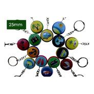 Matriz Máquina De Buttons 25mm + 100 Chaveiros 25mm Dupla