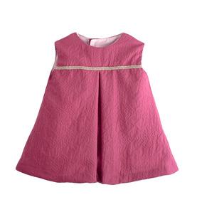 Vestido Victoria Rosa Viejo Bebés Niña - Talla 6m 9m 12m