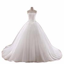 Vestido De Noiva Princesa Com Cauda Partylight Atelier