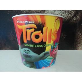 Balde De Pipoca:trolls:dreamworks:5 L.:cinema:oficial:pvc