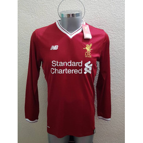 Jersey Playera Liverpool Local 2018 125 Años Manga Larga