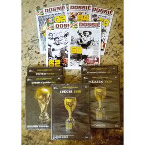 Dossiê Placar Copas Penta Brasil Futebol - 5 Dvds + Revistas
