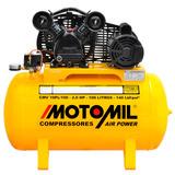 Compressor De Ar Motor 2 Hp 100 Litros 10 Pés Bivolt 110 220