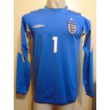 Camiseta Arquero Selección Inglaterra Euro 2004 James #1 M