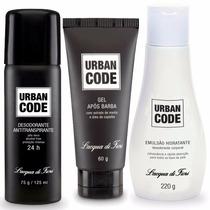 Urban Code Emulsão Hidratante + Desodorante + Gel Apos Barba