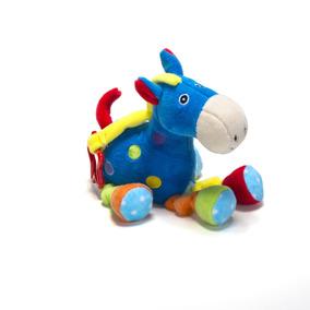 Cavalo Azul De Pelúcia - Chocalho Infantil - Unik Toys