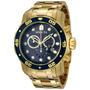 Lindo Relógio Invicta Pro Diver Scuba 0073 -banhado Ouro Iv4