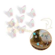 Mariposas Tornasolada Plástica Tortas Cupcake Hadas X50