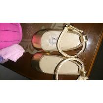 Zapatos De Vestir Dorados De Niña Talla 20