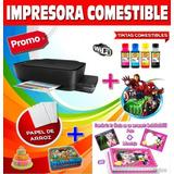 Impresora Foto Torta Comestible+kit De Inicio Completo