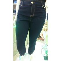 Calça Capri Jeans Strech Plus Size Tam. 44 Ao 54