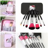 Set 7 Brochas De Maquillaje Hello Kitty !envío Gratis!