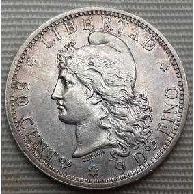 Argentina 50 Centavos1883 Plata Cj#:17.1-3 Norm.casi Sc.+ ++