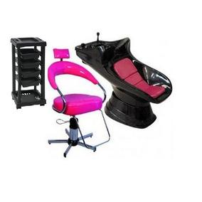 Kit Cadeira Carrinho Lavatório Com Aquecedor De Brinde