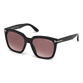 80dfd062c7 Tom Ford T Brillante Negro Amarra Cuadrados Gafas De Sol L