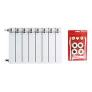 Radiador Peisa Squadra 350 X 1 Elemento + Set + Cuotas