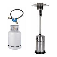 Calefactor Estufa A Gas Exterior Hongo + Garrafa + Regulador