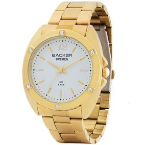 Relógio Feminino Backer 3425145f Br Bremen Dourado