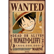 10 Posters One Piece - Wanted 33 X 48 Cm
