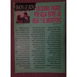 Duran Duran Simon Lebon Poster 54x39