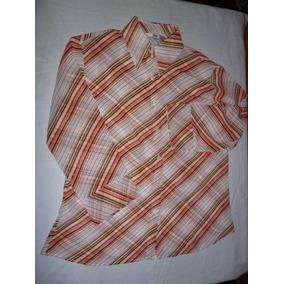 Camisa De Dama Rayada En Gasa Lolita Talle L
