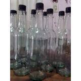 Botellas De Vidrio 1 Litro Limpias Sin Etiqueta Tapas Nuevas