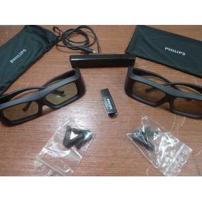 9e3511bc40e82 Kit De Atualização Philips Pta 02 Com 02 Oculos 3d Ativos    ...