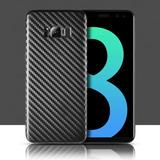 Funda Slim Fibra Carbon Case Delgada Negra Galaxy S8 S8 Plus