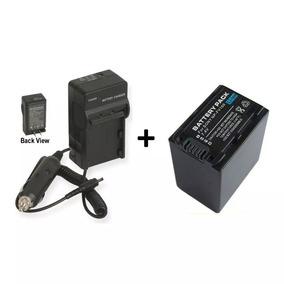 Kit Bateria Fv100 + Carregador Np-fv100 Câmera Sony Dcr-sx44