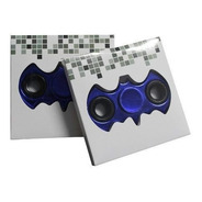 Fidget Hand Spinner Anti Estresse Batman Metalizado Azul