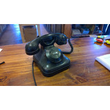 Antiguo Telefono De Baquelita Negro ..interno