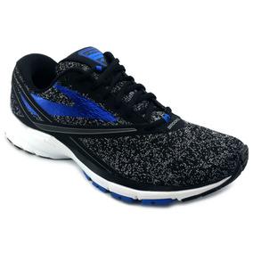 Tenis Brooks Launch 4 Negro Azul Correr Running