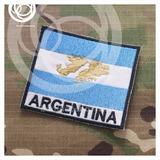 Bandera Argentina Bordada Islas Malvinas 9x7 Con Abrojo