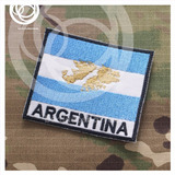 Bandera Argentina Bordada Islas Malvinas 9x7