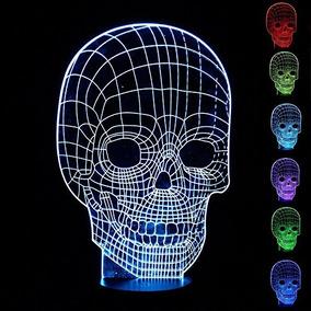 Lámparas Cráneo 3d, 3d Noche Las Luces, Lámparas De Noche In