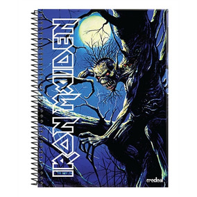 Caderno Iron Maiden Fear Of The Dark 15 Matérias