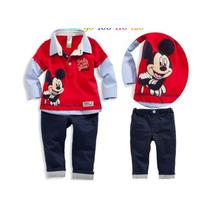 Conjunto Infantil Minnie Mickey Mouse Aniversario Roupa Frio