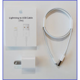 Cargador Iphone 5/5s 6/6s-7 Plus + Cable Usb Apple Original