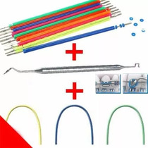 Borrachinhas Aparelho Ortodontico + Aplicador + Fio Colorido