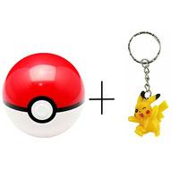 Pokeball + Figura De Pikachu Pokemón Pokebola