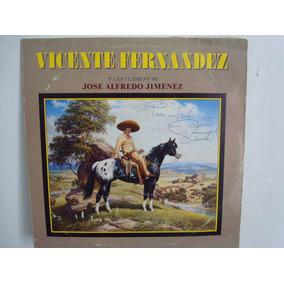 Vicente Fernandez -disco Autografiado