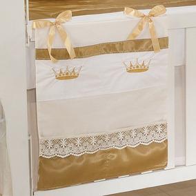 Porta Treco P/ Quarto De Bebê Magnífico 1 Peça Cor Ouro