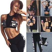 Deportivo Conjunto Top Gym Yoga Fitness Leggin Sexy Mujer